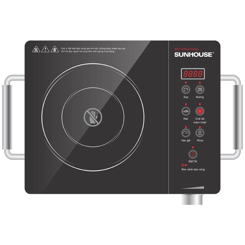 Bếp hồng ngoại Sunhouse SHD6008 hai vòng nhiệt