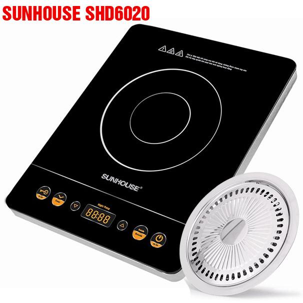 Bếp hồng ngoại Sunhouse SHD6020 công suất lớn 2 vòng nhiệt