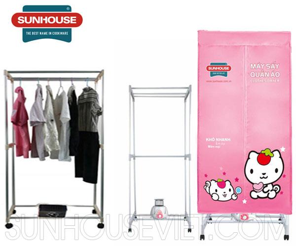 Tủ sấy quần áo Sunhouse SHD 2701 tủ vuông 2 tầng