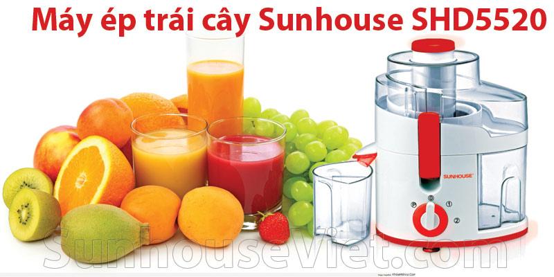 may ep trai cay sunhouse shd5520 mau do