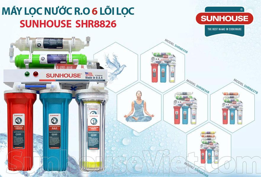 may loc nuoc r.o 6 loi sunhouse shr8826 re