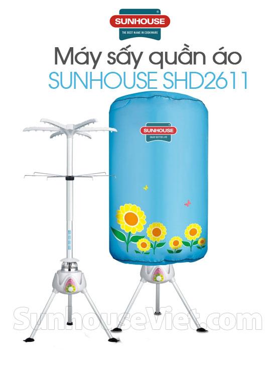 Máy sấy quần áo Sunhouse SHD2611