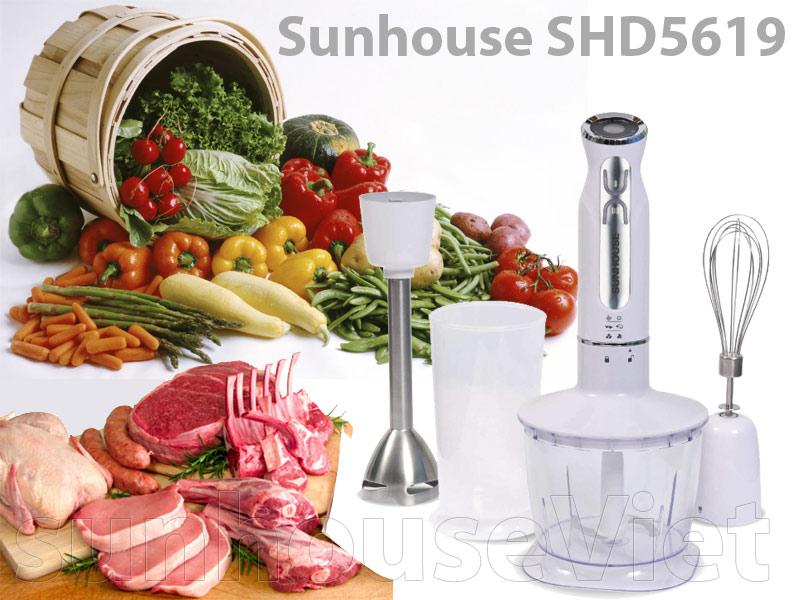 máy xay cầm tay sunhouse shd5619 có cối xay thịt