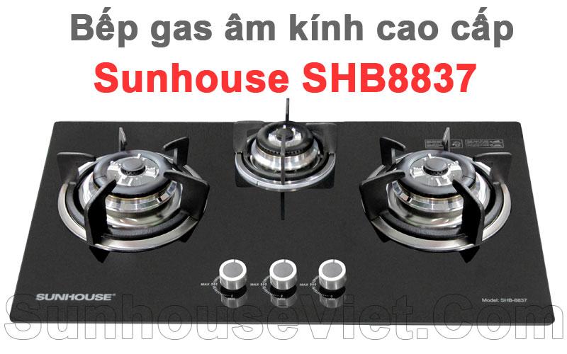 bep gas am kinh cao cap sunhouse shb8837