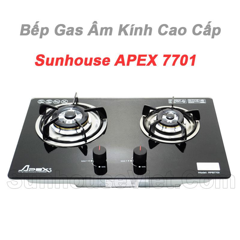 bep gas am kinh cao cap sunhouse apex7701 tot