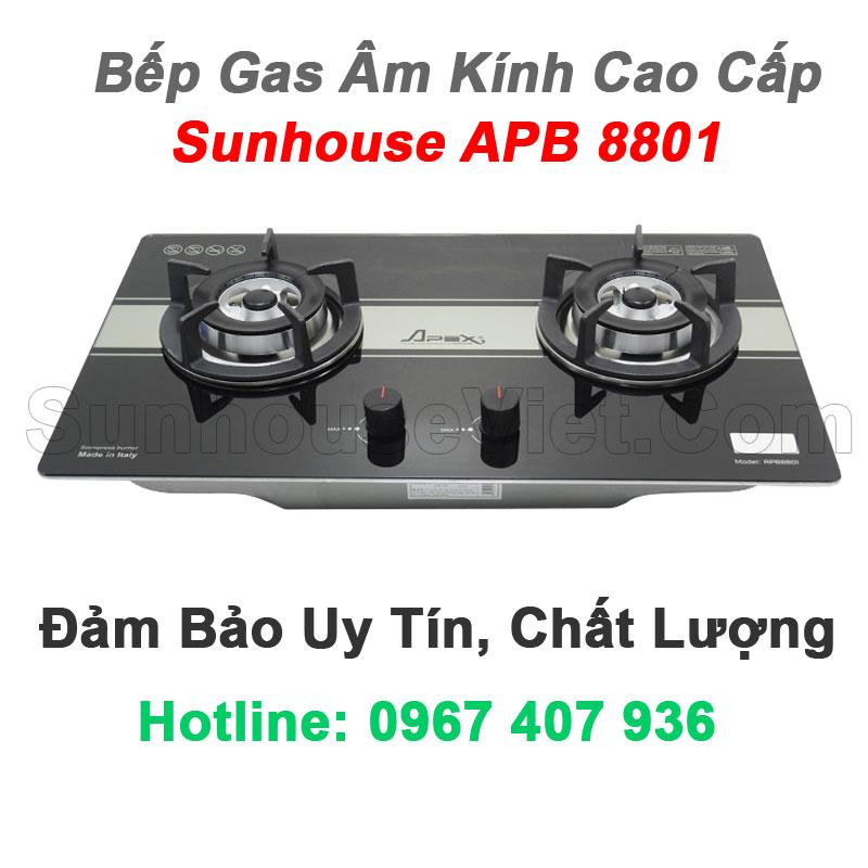 bep gas am kinh cao cap sunhouse apb8801