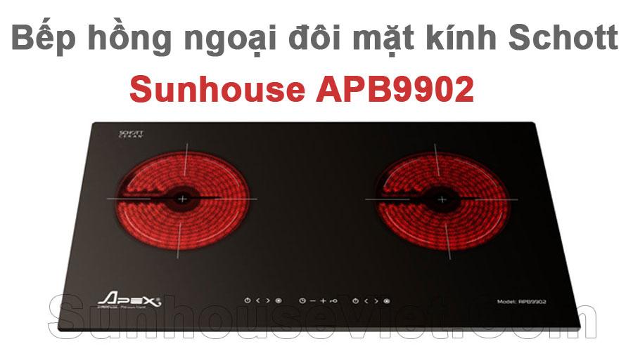 bep hong ngoai doi mat kinh schott sunhouse apb9902