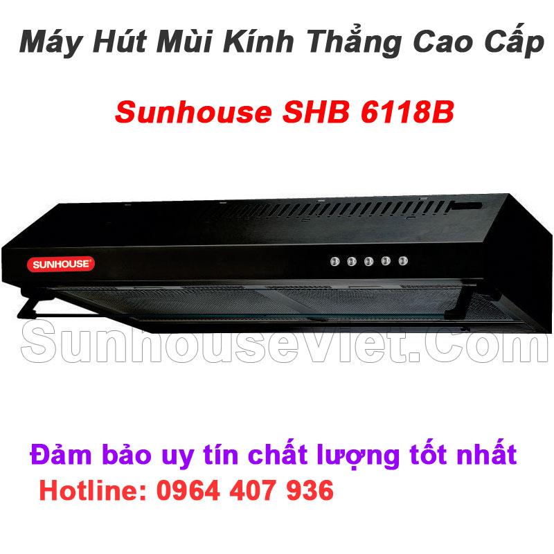 may hut khoi khu mui kinh thang sunhouse shb6118b