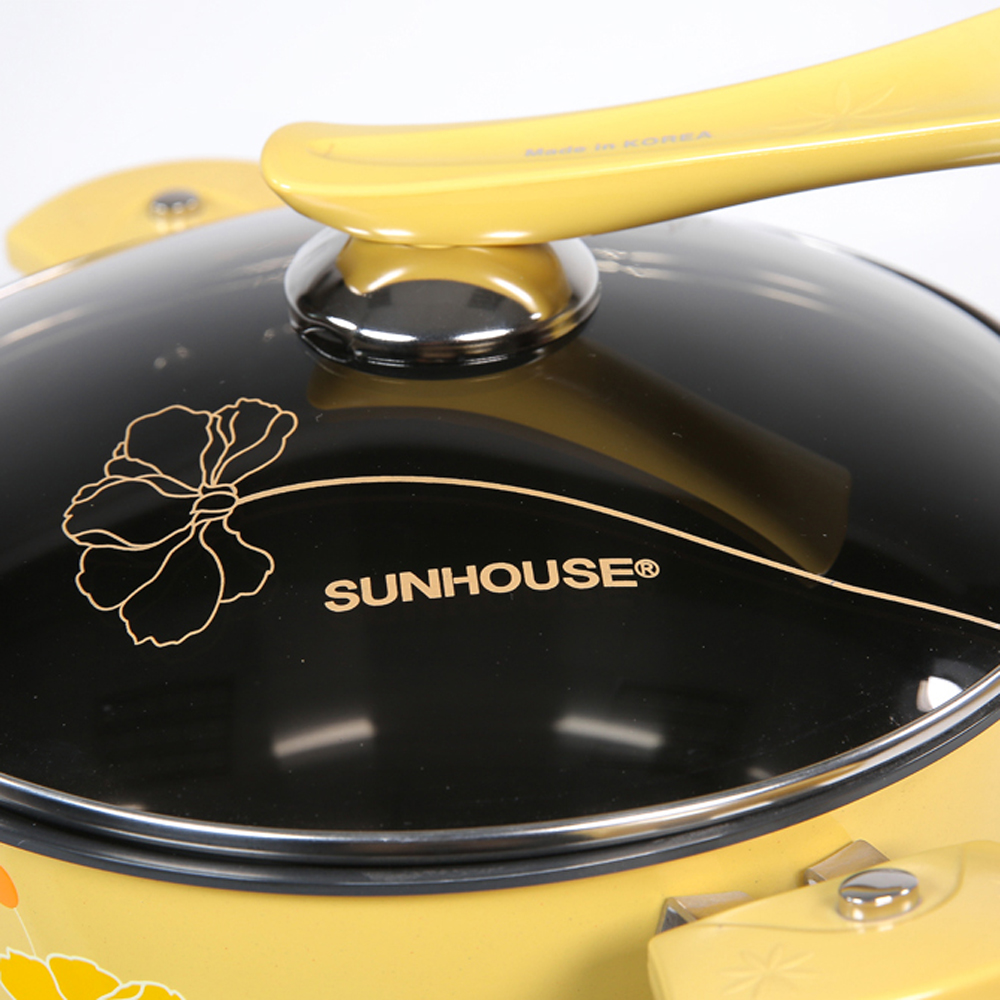 Bộ nồi sunhouse shg1132 với núm vung cách điệu