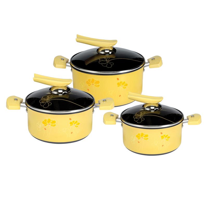 Bộ nồi sunhouse shg1132 3 chiếc màu vàng