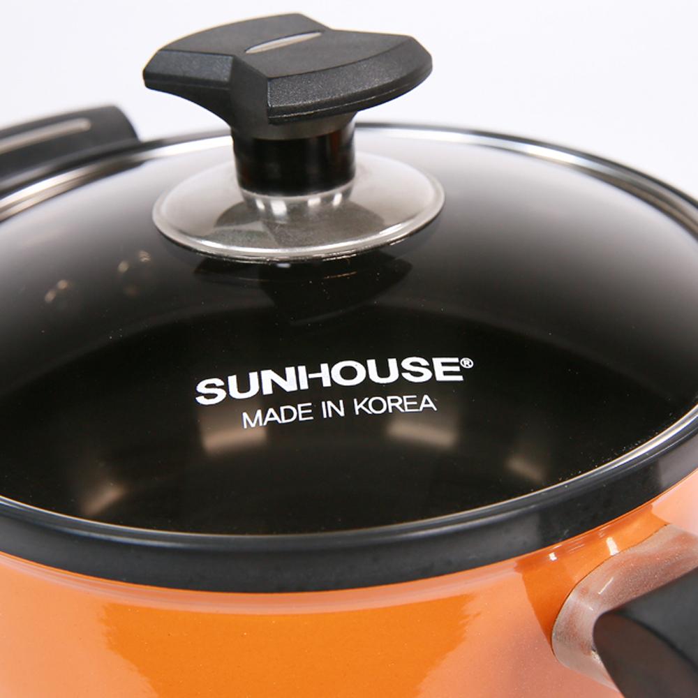 Bộ Nồi Sunhouse shg9999 núm vung bằng nhựa chịu nhiệt chống nóng