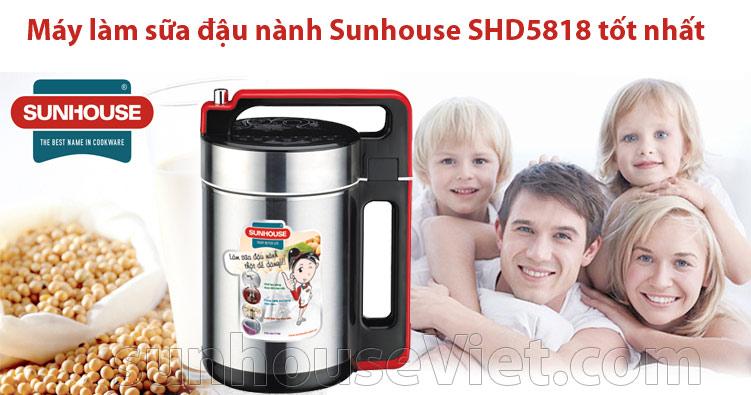 máy làm sữa đậu sunhouse shd5818 inox tốt nhất