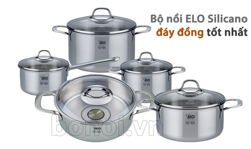 Bộ nồi ELo Silicano Plus có nhiều kích cỡ thuận tiện cho người nội trợ nấu ăn