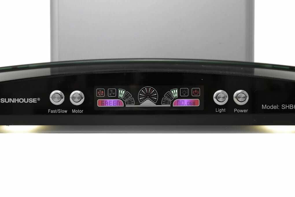 Máy hút khử mùi bếp Sunhouse SHB6626 bảng điều khiển