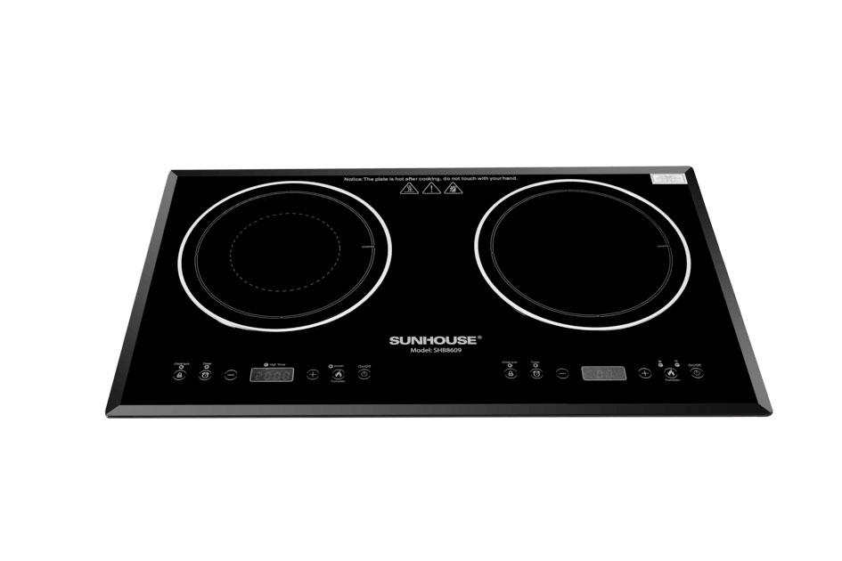 Bếp điện từ đôi Sunhouse SHB8609 màu đen sang trọng loại tốt