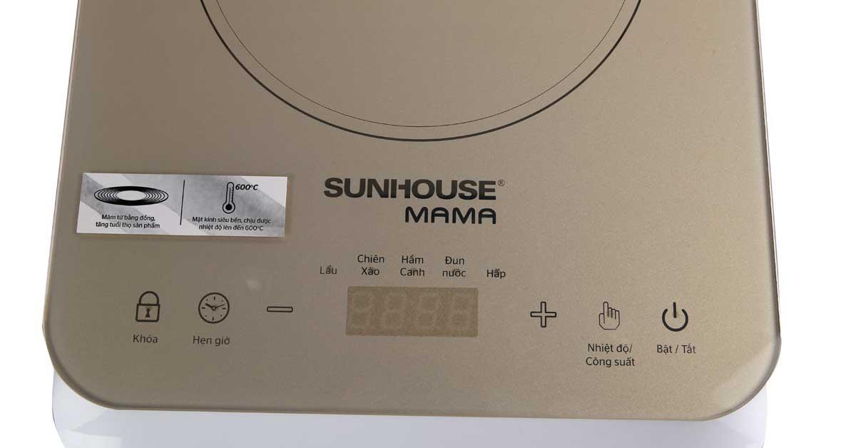 Bếp từ Sunhouse Mama SHD6868 bảng điều khiển